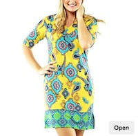 Women's blue and yellow floral dress Gaithersburg, 20878