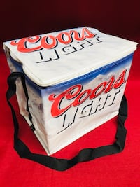 "NEW Coors Light The Silver Bullet Insulated Cooler Bag-24/12 oz.cans 10 1/2""x 8""x 9 1/2""tall Las Vegas, 89131"