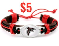 ATLANTA FALCONS NFL LEATHER BRACELET WRISTBAND  Pasadena, 91103