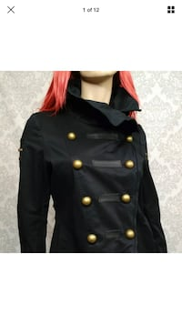 Mackage Black Steampunk Military Jacket Size Medium like new  Brampton, L6Z 4N8