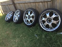 22s 3 good tires 1 bad tired Odessa, 79761