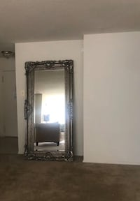 Antique Wall Mirror White Oak