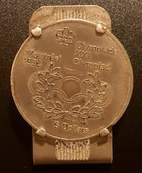 1976 Olympic coin money clip - Montreal Toronto