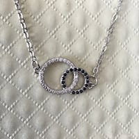 New with tag 925 sterling silver black and white double circle necklace Camarillo, 93012