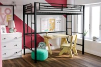 Black metal loft bed Woodbridge, 22193