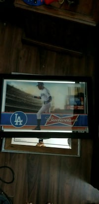 BUDWEISER L.A DODGERS BEER BAR SIGN MIRROR NEW South Gate, 90280