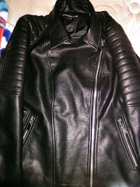 black leather zip-up jacket Winnipeg, R3G 2P1