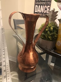 Vintage hammered copper vase Courtice, L1E 0H5