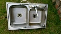 gray stainless steel twin sink Shafter, 93263