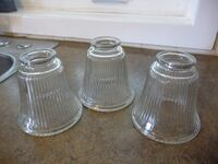 Lot of 3 Clear Glass Lamp Shades for bedroom or bathroom or even kitchen PALMERTON