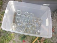 clear glass candle holder lot Ocala, 34479