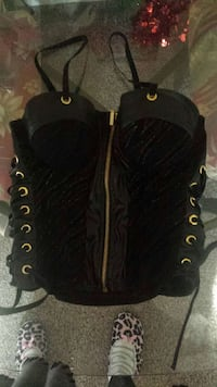 Gorgeous black n gold bustier