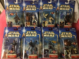 Star Wars AOTC Action Figures Main Characters Set of 8