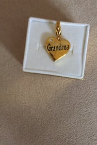 Gold plated charms/or can be worn on chain with Swarovski Elements.