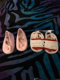 Two cute pairs of baby shoes  San Bernardino, 92407