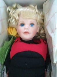 baby doll in red and white dress Richmond Heights, 63117