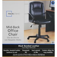 New in box- Bonded Leather Office Chair, Black Mississauga