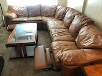 Leather sectional 4 piece  W/ coffee and end tables  Virginia Beach, 23462