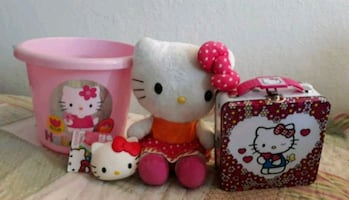 Hello Kitty Bundle - Doll, Bucket, Coin Purse