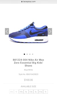 Size 4 Nike Air Max (Kids)  Hyattsville, 20783