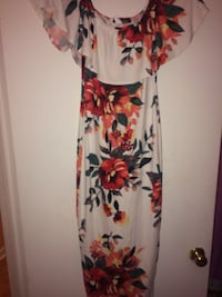 White, red, and green floral sleeveless dress Gulfport, 39507
