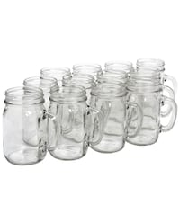 16oz Plain Mason Jars w Handles- Pack of 30 Vaughan