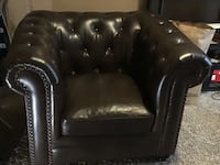 Oversized brown leather chair Eagle, 83616