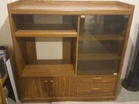 brown wooden desk with hutch Edmonton, T5Y