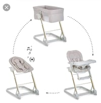 baby's white and gray high chair 549 km