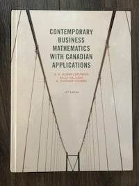 Contemporary Business Mathematics with Canadian Applications Text Book Port Alberni