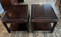 Pair of large solid wood side tables / end tables Toronto, M2J