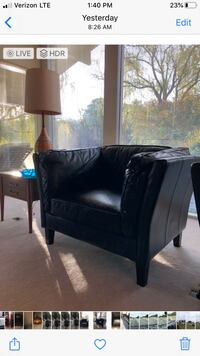 2 New Matching Navy Leather Chairs Huntersville, 28078