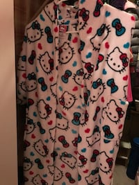 Hello Kitty printed white and multicolored long vest