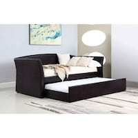 Brown faux leather day bed and trundle  Las Vegas, 89179