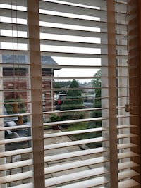 "Blinds - 2"" faux wood 3 sets. $40 each. Also 3 roller blinds $20 each. Contact for dimensions Barrie, L4N 4G3"