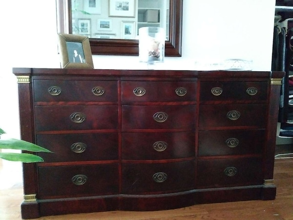 Used Red Wooden 12 Drawer Horizontal Dresser For Sale In New York Letgo