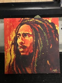 Bob Marley Black and red abstract painting Anaheim, 92805