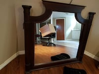 mirror with brown wooden frame Hamilton, L8K 3T2