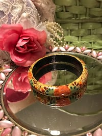Beautiful Hand painted Wooden Bangle Bracelet  Gainesville, 20155