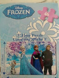 Disney Frozen floor puzzle box