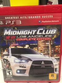 One sony ps3 game.  Midnight Club Newmarket, L3Y 6K7