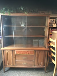 brown wooden framed glass display cabinet Fresno, 93727