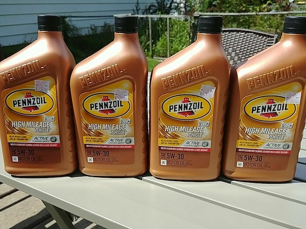 Used Pennzoil 5w 30 High Mileage Motor Oil For Sale In Frankfort Letgo