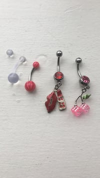 4 Assorted Belly Button Rings