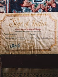 """Star of India"" GENUINE ORIENTAL RUG Gaithersburg, 20878"
