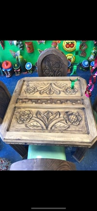 brown wooden floral embossed chest Severna Park, 21146