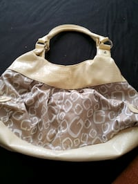 white and brown leather shoulder bag Kingston, 73439