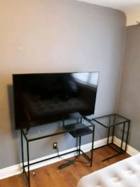 Glass tv and side table  Hamilton, L8M 1P2