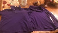 2 purple uniform shirts  Midland, 79701