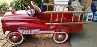 Retro design, ride in, pedal action fire truck.  Ages 3 and up.  Shrewsbury, 07702